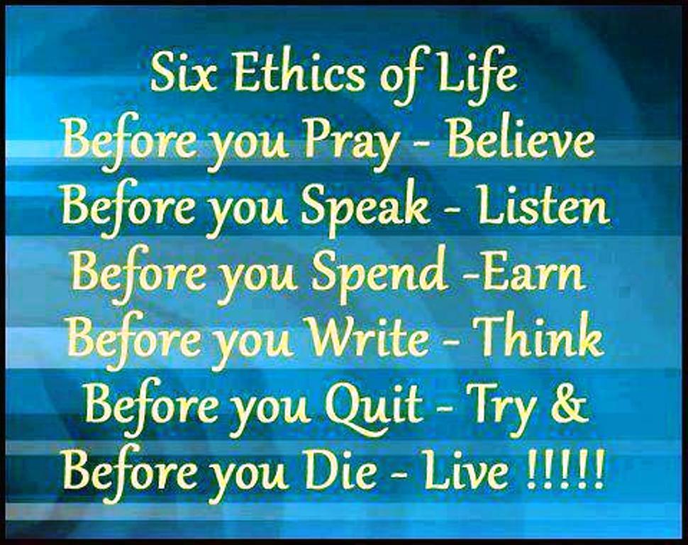 six ethics of life ali khan s official website