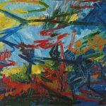 Bacchus and Ariadne 1971 by Frank Auerbach born 1931