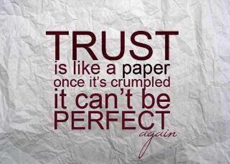Trust Is Like A Paper Once It Is Crumpled Ali Khans Official Website